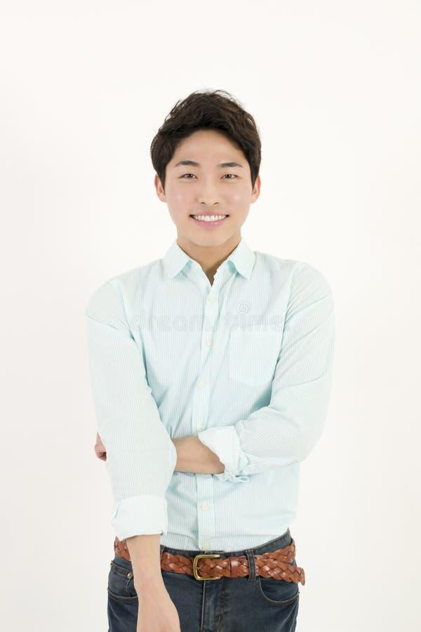 亚裔英俊的男学生 免版税库存照片