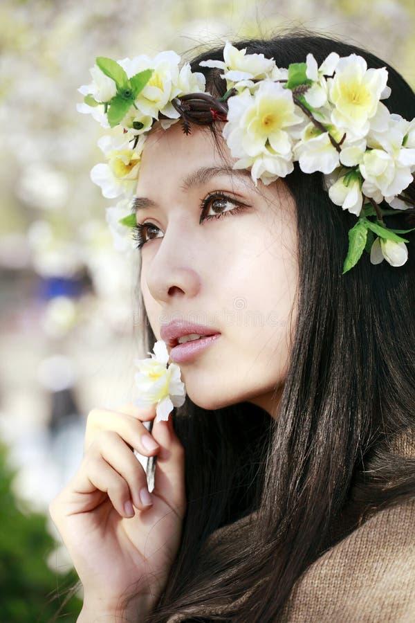 亚裔诗歌选女孩 免版税库存图片