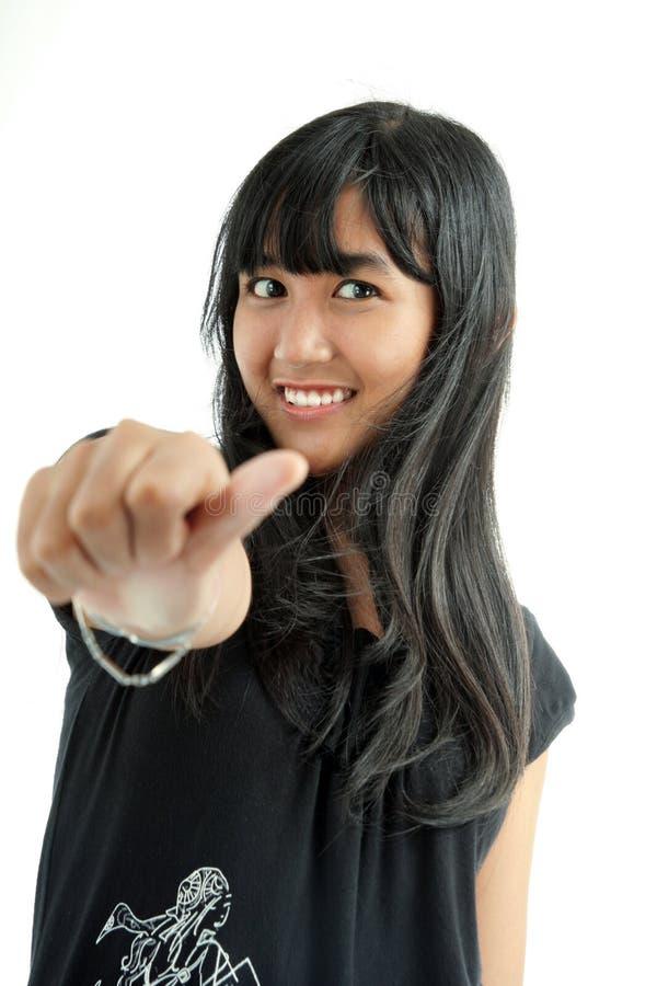 亚裔逗人喜爱的女孩 免版税库存图片