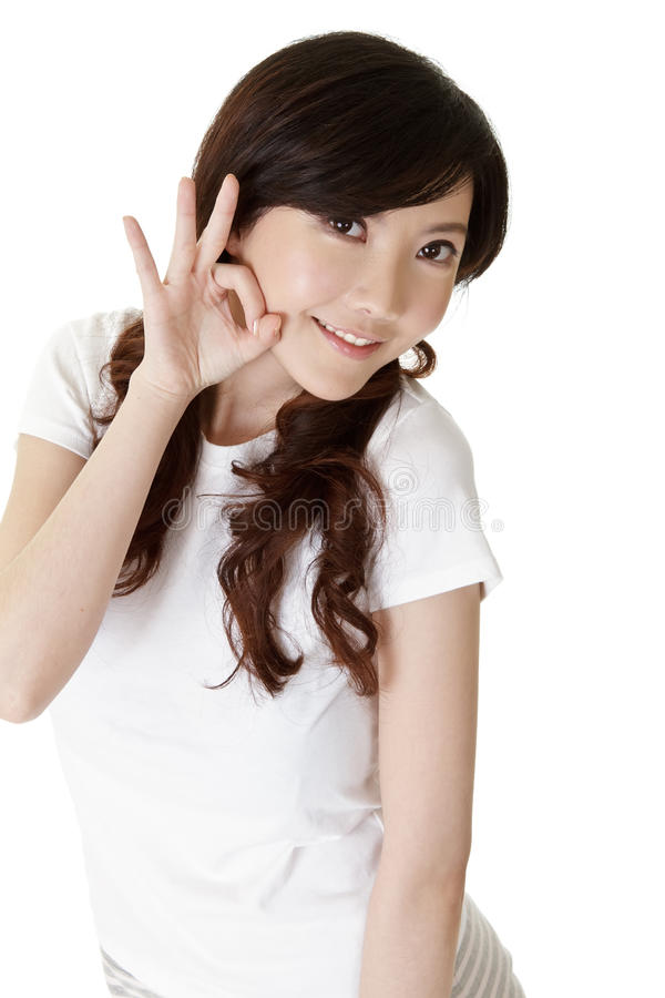 亚裔逗人喜爱的妇女 库存照片