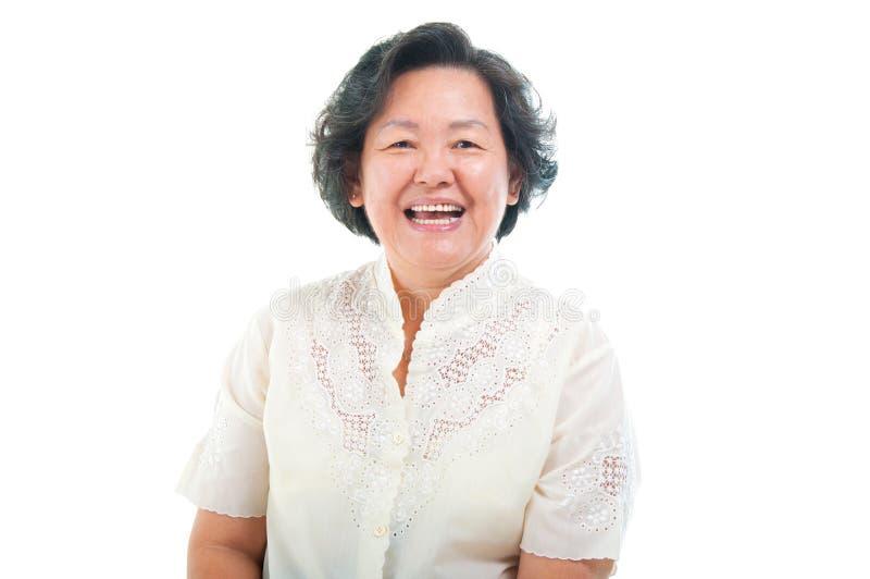 亚裔高级妇女 免版税库存照片