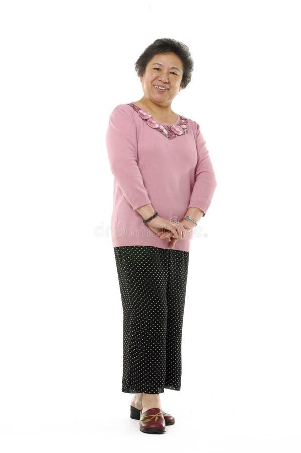 亚裔高级妇女 库存照片