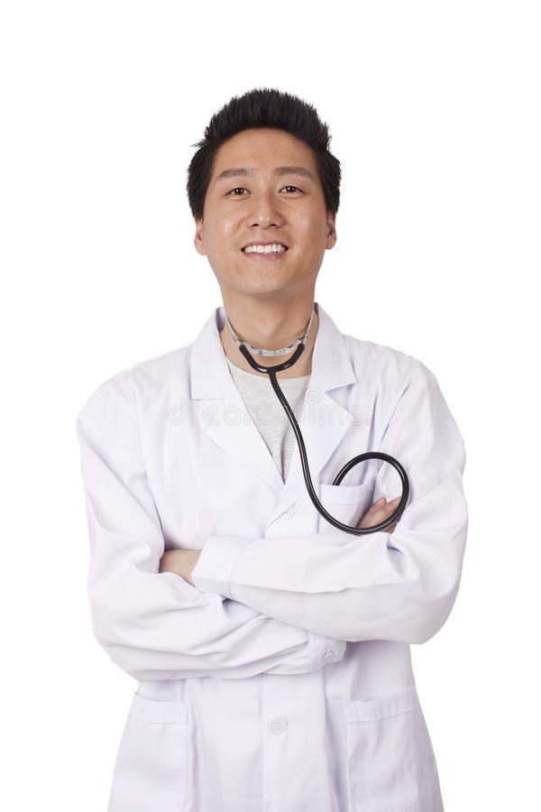 亚裔年轻医生 免版税库存照片