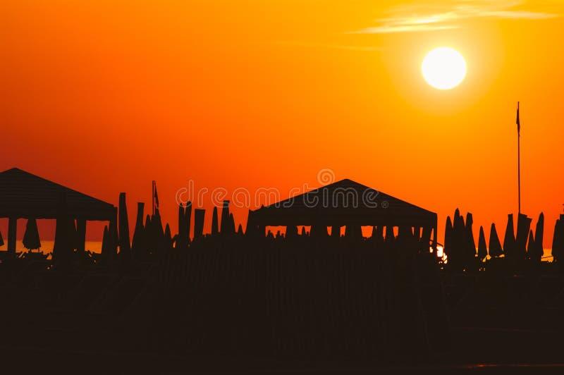 维亚雷焦海滩,意大利,托斯卡纳 免版税库存图片