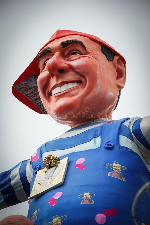 维亚雷焦狂欢节托斯卡纳的意大利 库存图片