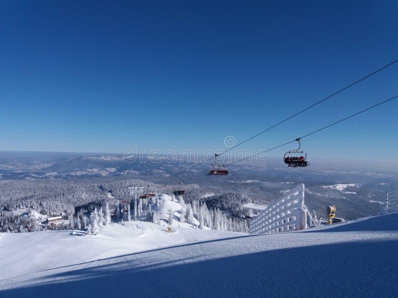 亚霍里纳山-滑雪场 库存照片