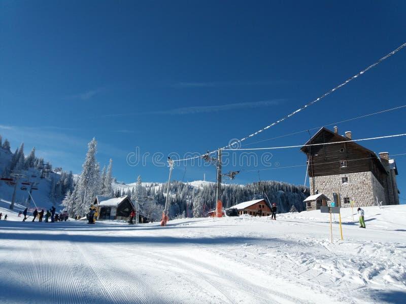 亚霍里纳山-滑雪场 库存图片