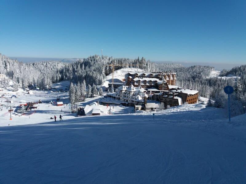 亚霍里纳山-滑雪场 免版税库存照片