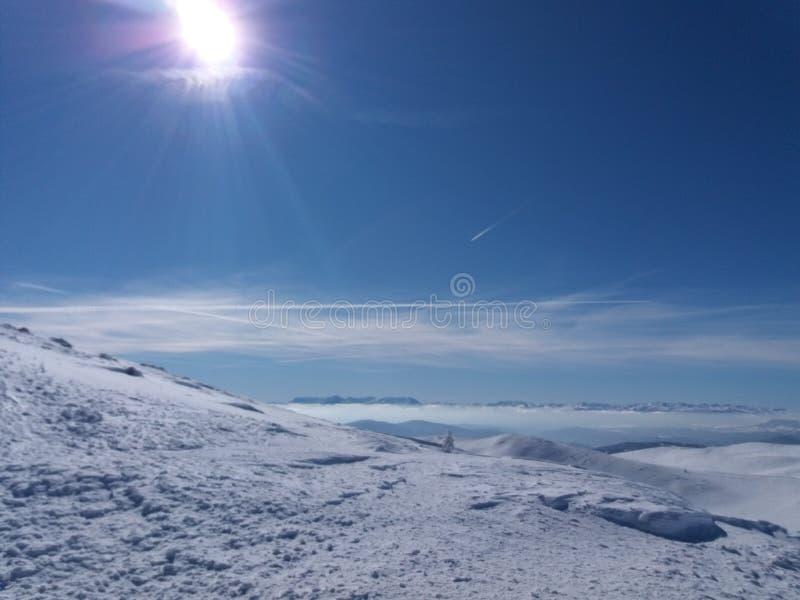 亚霍里纳山-滑雪场 免版税库存图片