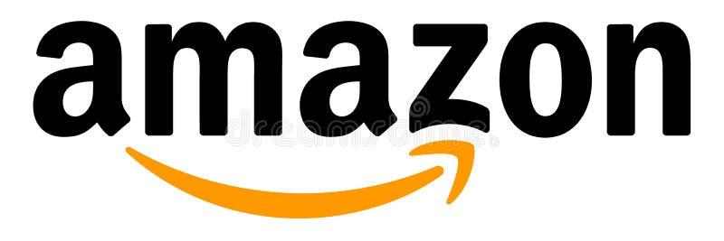 亚马逊商标 库存例证