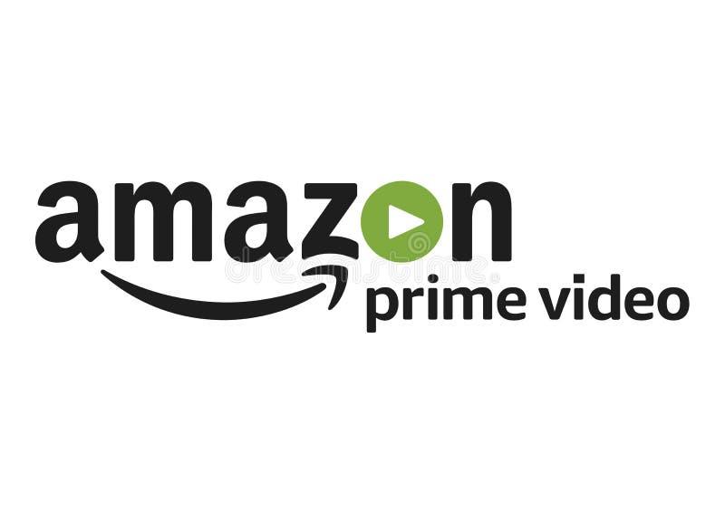 亚马逊最初录影商标 向量例证