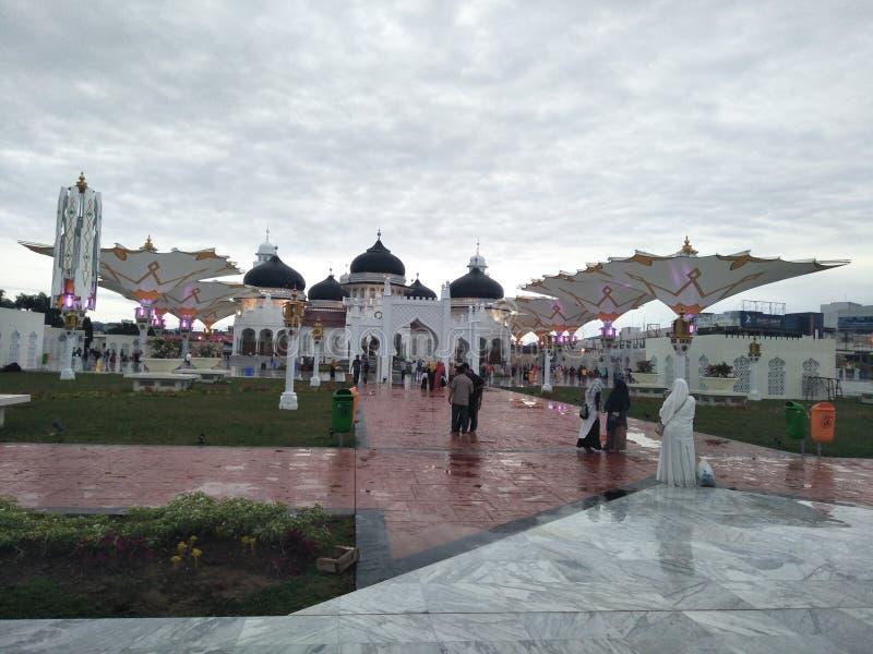 亚齐清真寺  免版税库存照片