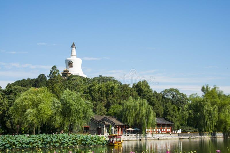 亚洲中国,北京,北海公园,夏天风景 免版税图库摄影