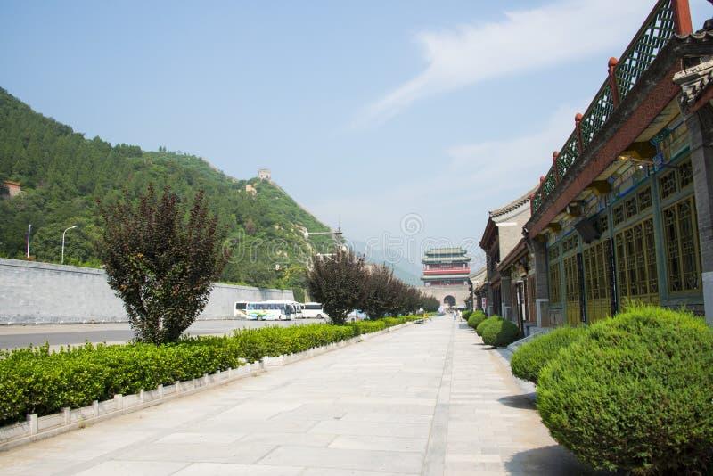 亚洲中国,北京,历史建筑,长城居庸关, 免版税库存照片