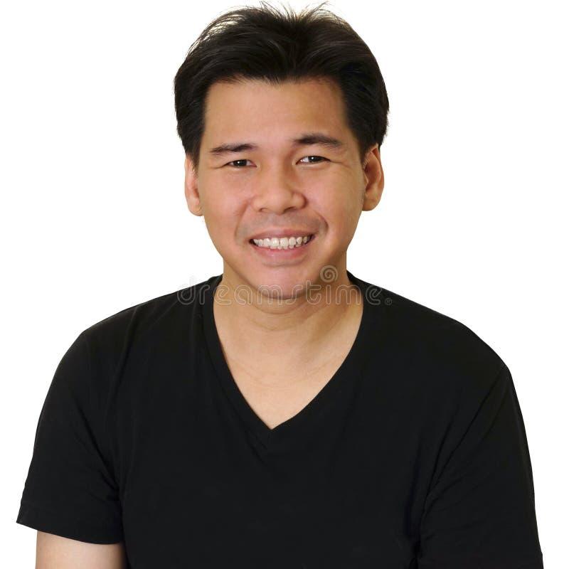 亚洲人微笑 免版税库存照片