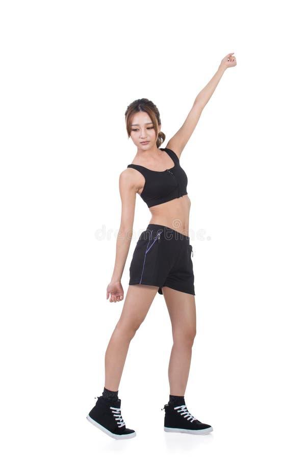亚洲人的体育女孩 免版税图库摄影