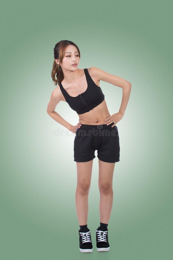 亚洲人的体育女孩 免版税库存照片