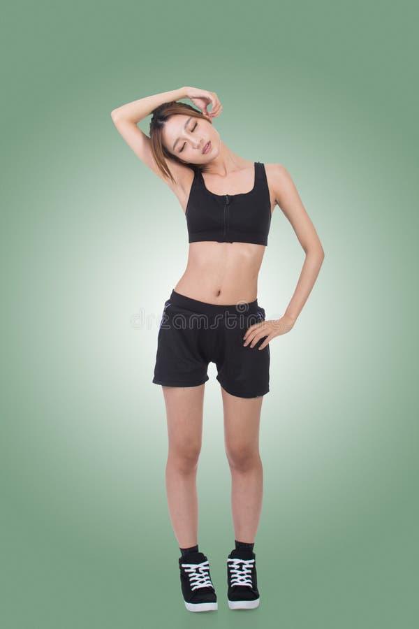 亚洲人的体育女孩 库存图片