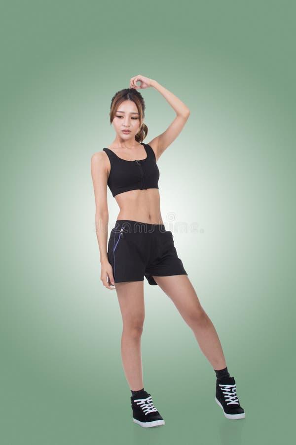 亚洲人的体育女孩 免版税库存图片