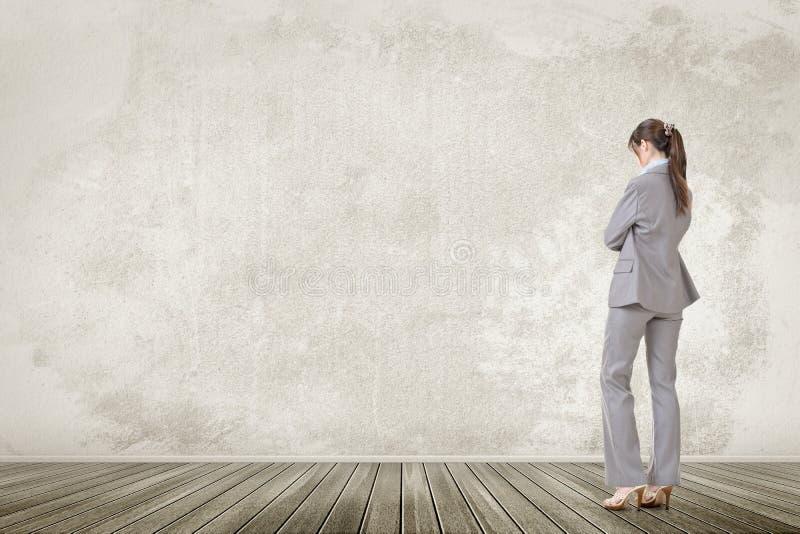 亚洲企业确信的妇女 图库摄影
