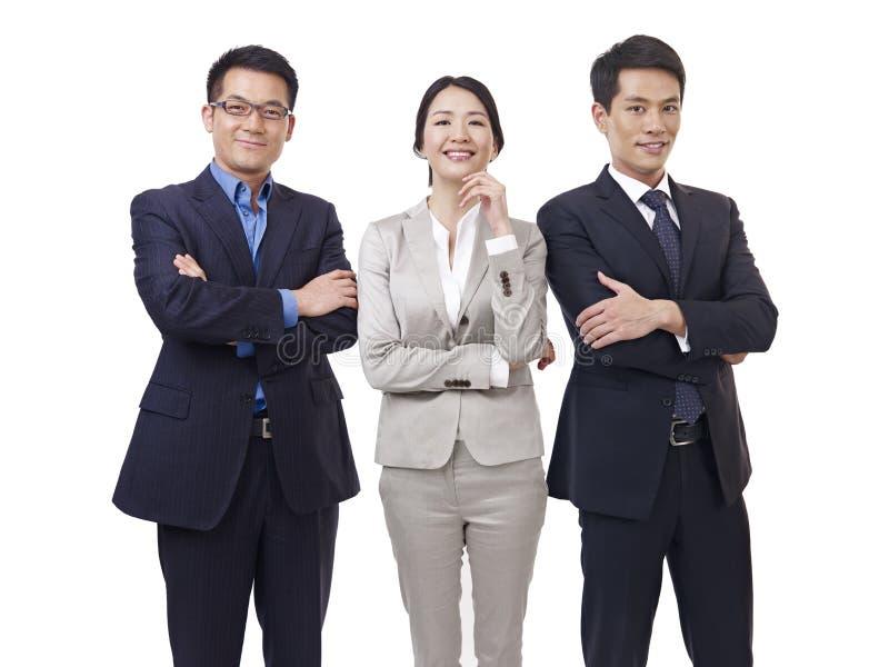 亚洲企业队画象  图库摄影