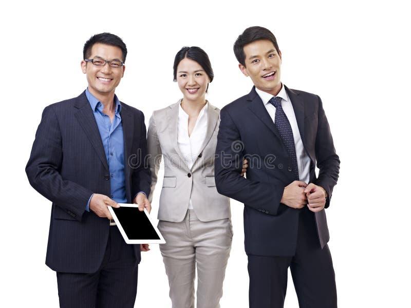 亚洲企业队画象  库存图片