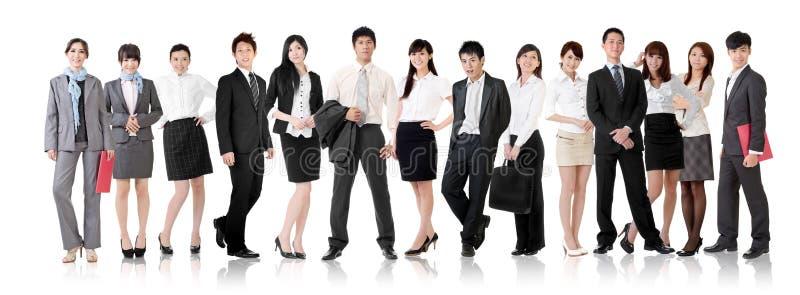 亚洲企业队 库存照片