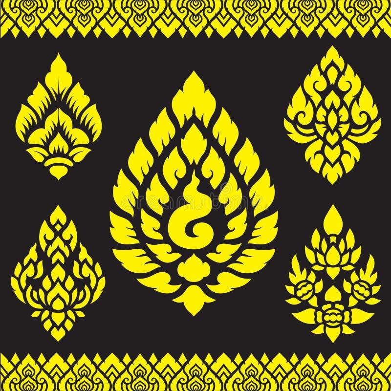 亚洲传统艺术设计传染媒介,泰国传统设计(泰国的赖) 皇族释放例证