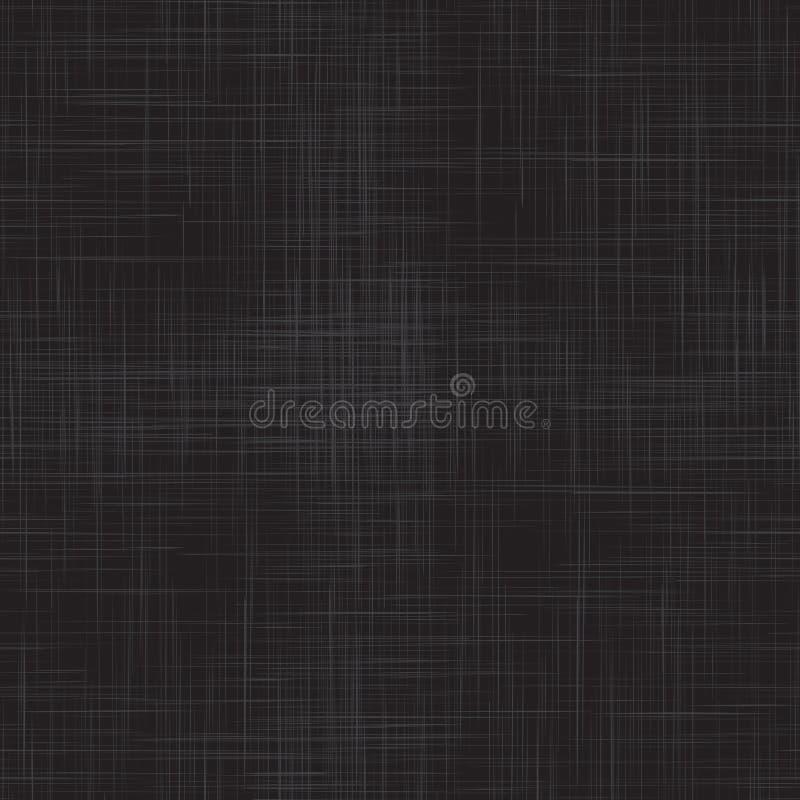黑亚麻制无缝的纹理 库存例证