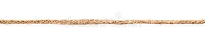 亚麻制绳索串的线 图库摄影