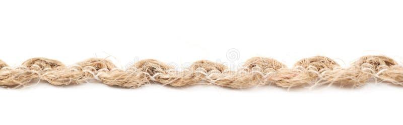 亚麻制绳索串的线 免版税库存图片