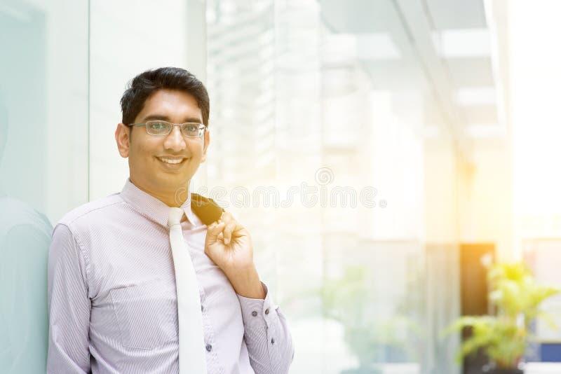亚洲印地安商人画象 图库摄影