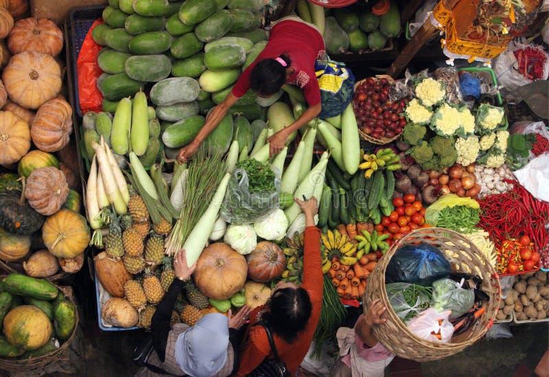 亚洲印度尼西亚巴厘岛登巴萨市场PASAR BADUNG 免版税库存图片