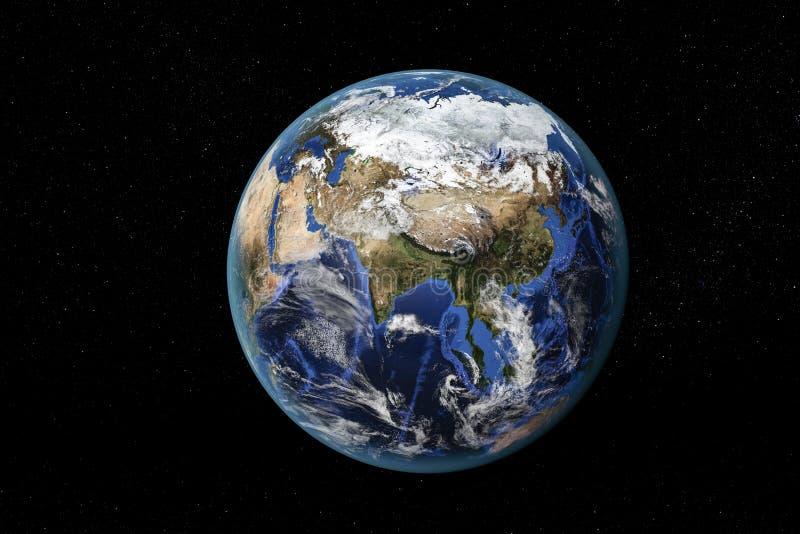 亚洲和远东从空间 库存照片