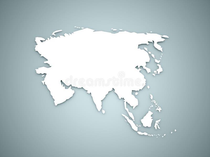 亚洲地图大陆概念 库存例证