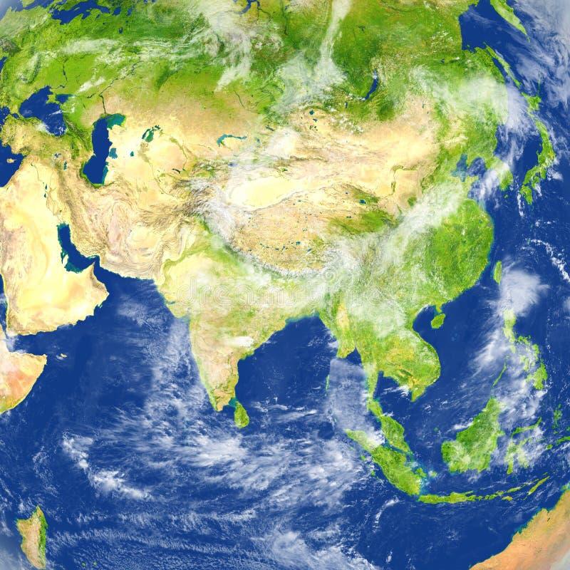 亚洲地球行星 向量例证