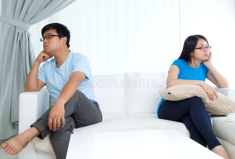 亚洲夫妇年轻人 免版税图库摄影