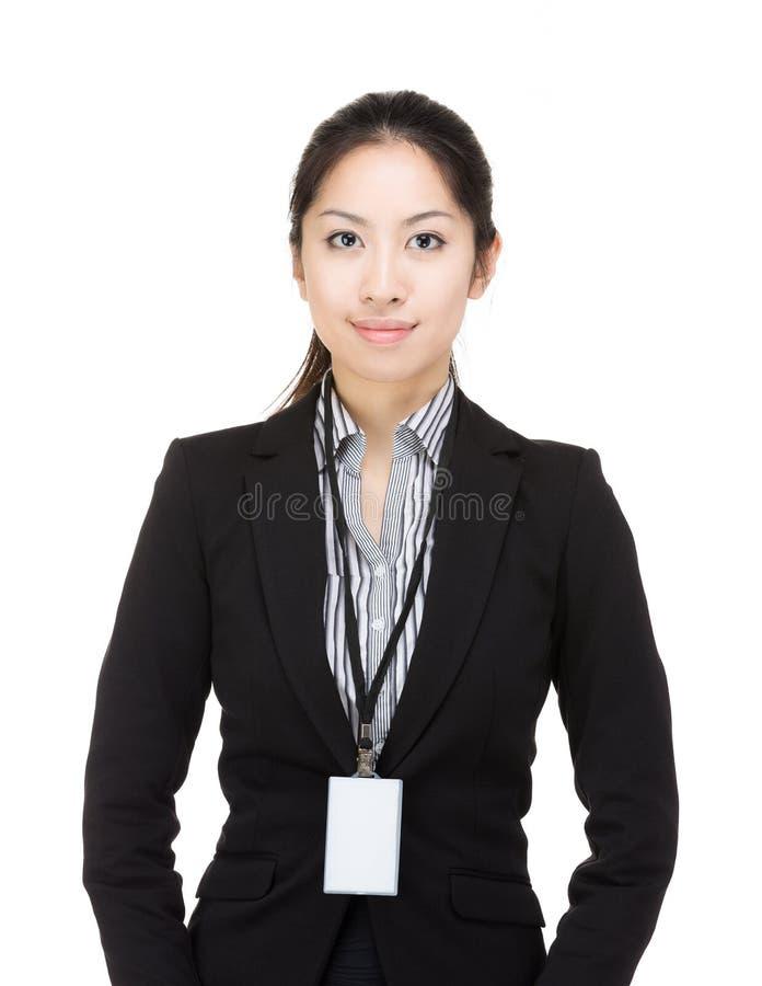 亚洲女商人 免版税库存图片