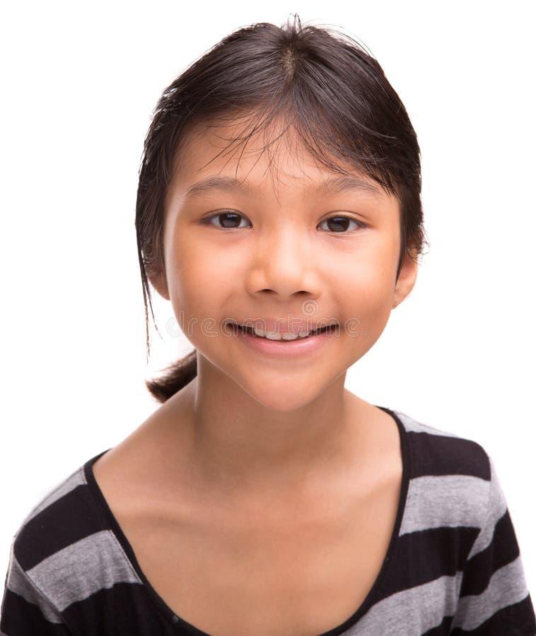 年轻亚洲女孩肖象VI 免版税库存图片