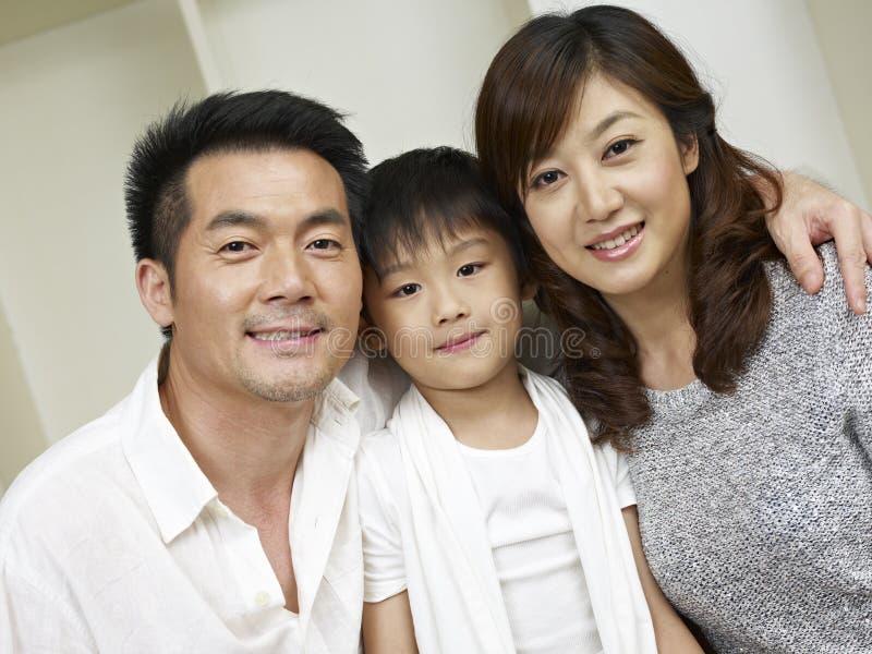 亚洲家庭 库存图片