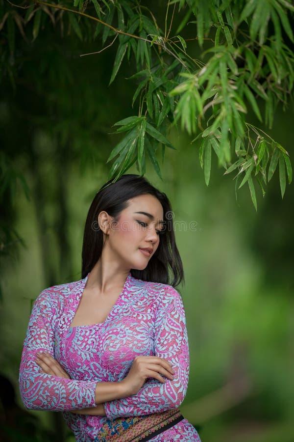 亚洲少妇美丽的画象 库存图片