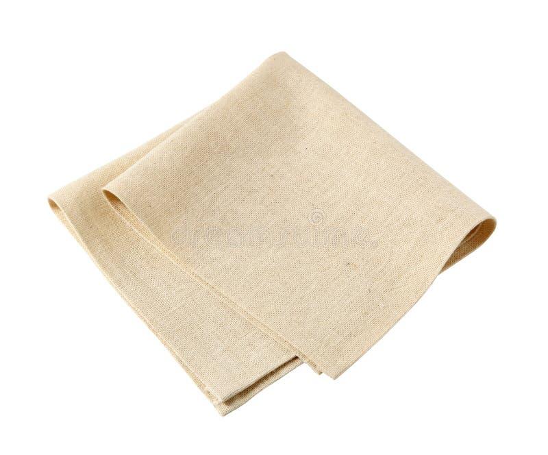 亚麻布餐巾 库存照片