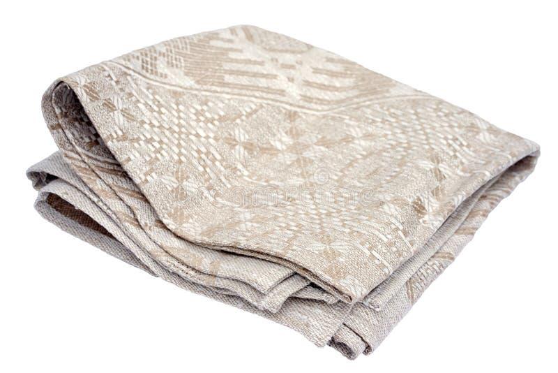 亚麻布餐巾 库存图片