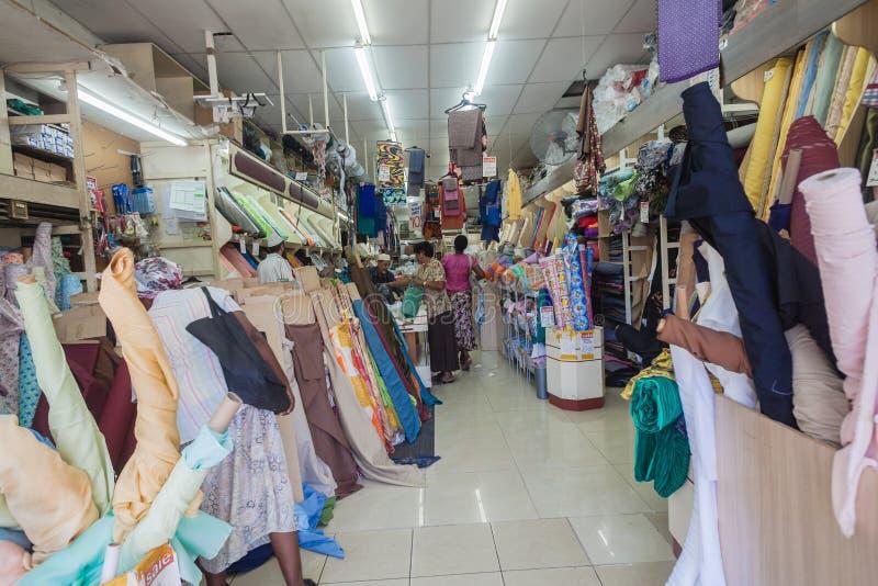 亚洲贸易的织品存储   免版税库存图片