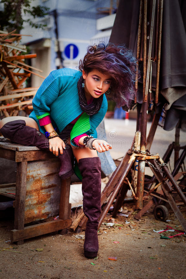 亚洲有吸引力的女孩年轻人 库存照片