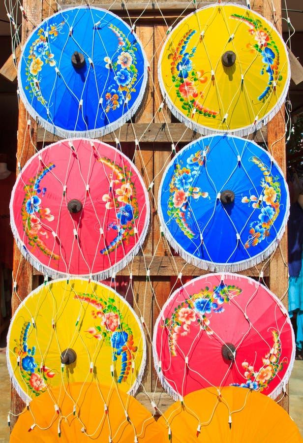 亚洲样式伞 免版税图库摄影