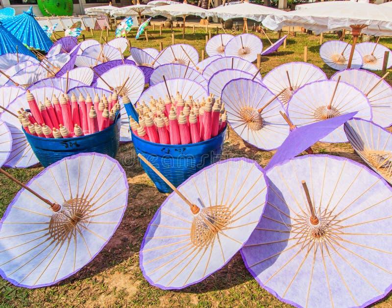 亚洲样式伞 图库摄影