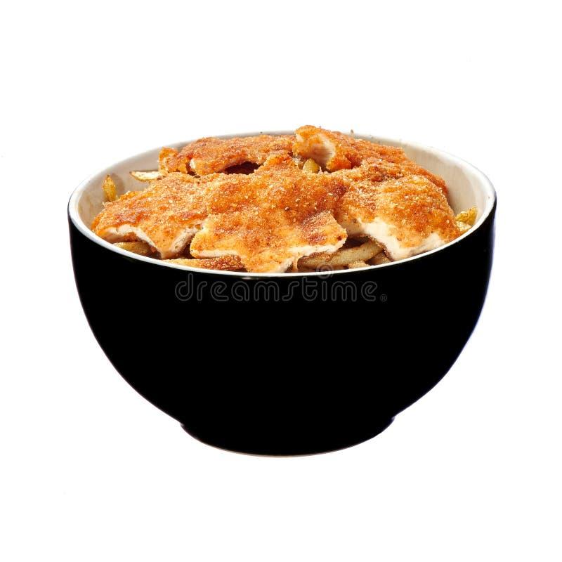 亚洲样式烤了鸡用香茅草本和菜 鸡炸肉排四川 免版税库存图片
