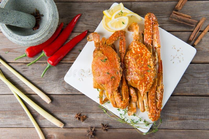 亚洲样式辣辣椒螃蟹 库存图片