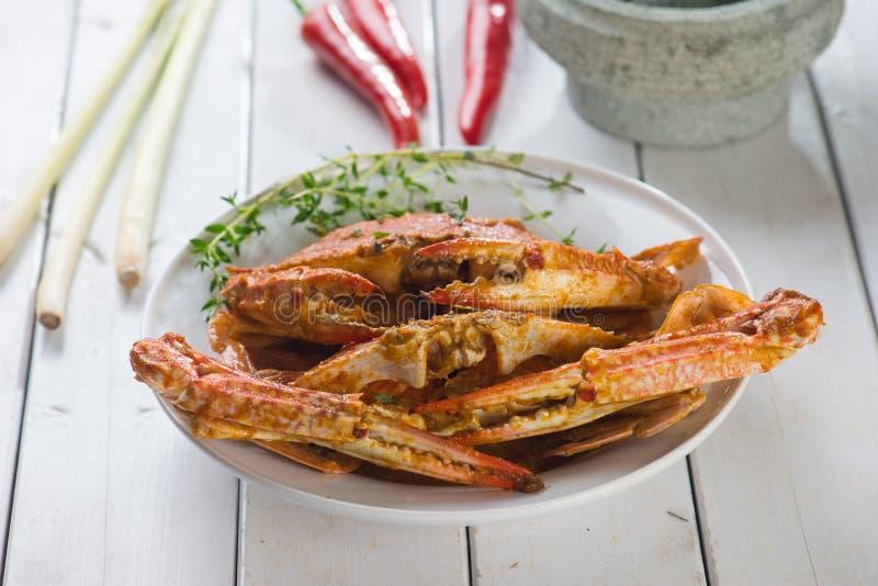 亚洲样式辣辣椒螃蟹 图库摄影